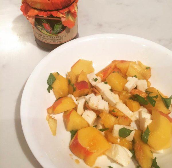 Peach Basil Mozarella 1