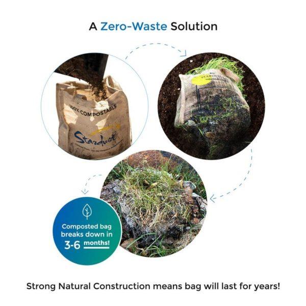 stardust composting jute bag
