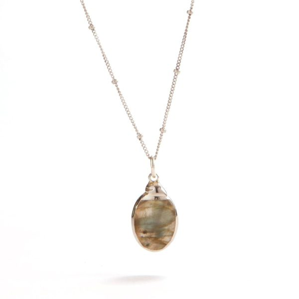 Labrodite and Silver Necklace