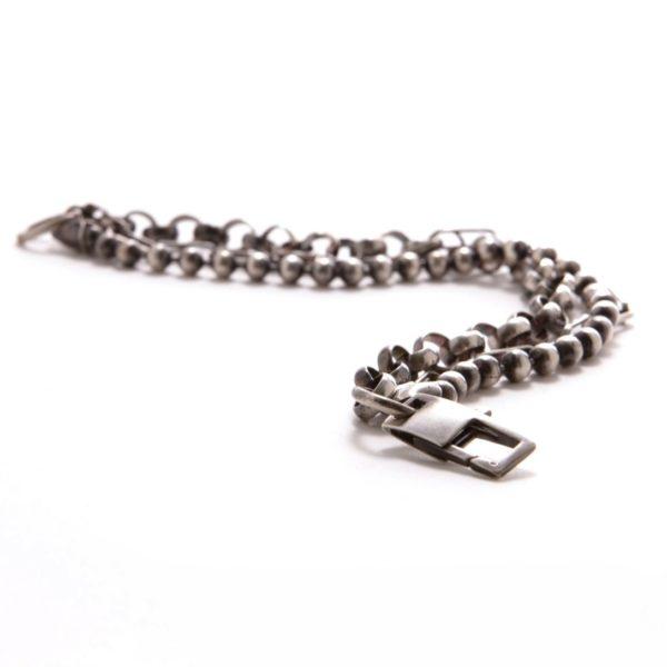 Silver Mixed Link Bracelet 2