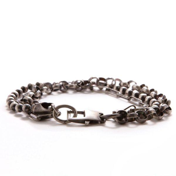 Silver Mixed Link Bracelet