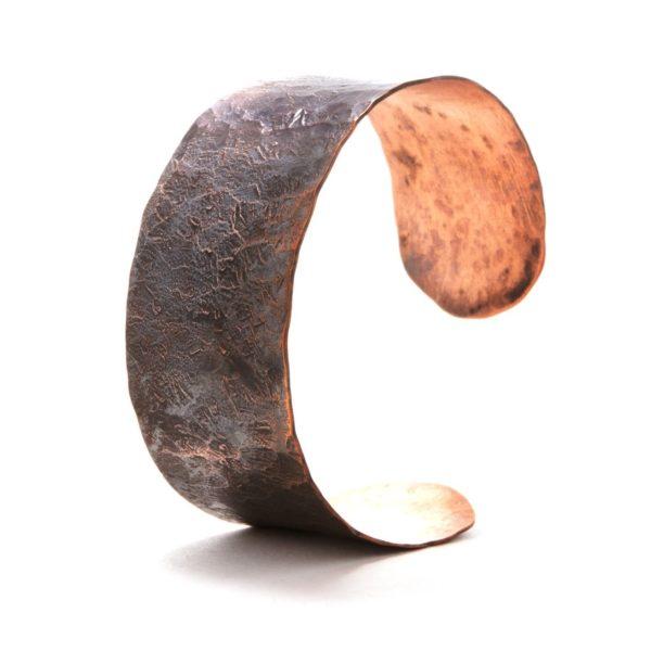 Wide Hammered Copper Cuff 2 1