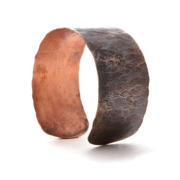 Wide Hammered Copper Cuff 3 1
