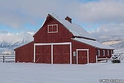 Winter Red Barn Heber Valley 1